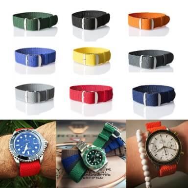 สายนาฬิกาแบบผ้า - สายถัก Perlon Strap