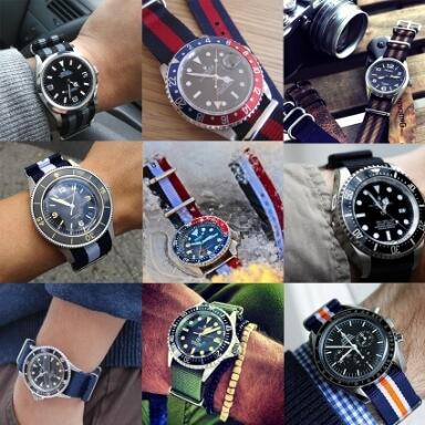 สายนาฬิกาแบบผ้า - สายนาโต้ Nato Strap