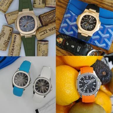สายนาฬิกาแบบยาง - Patek Philippe Rubber Strap