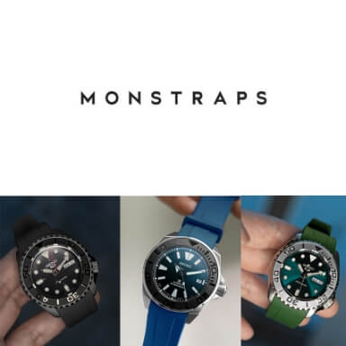 สายนาฬิกาแบบยาง - Monstraps for Seiko 5 Sports SRPD, SKX007