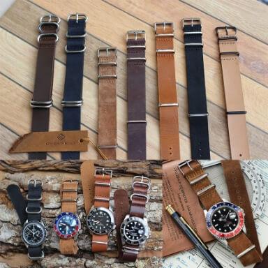 สายนาฬิกานาโต้หนัง Leather Nato Strap